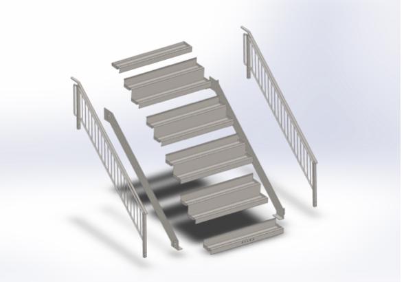 Schody modułowe FILLS fullmet metal