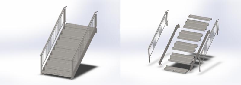 Schody modułowe FILLS fullmet metalowe