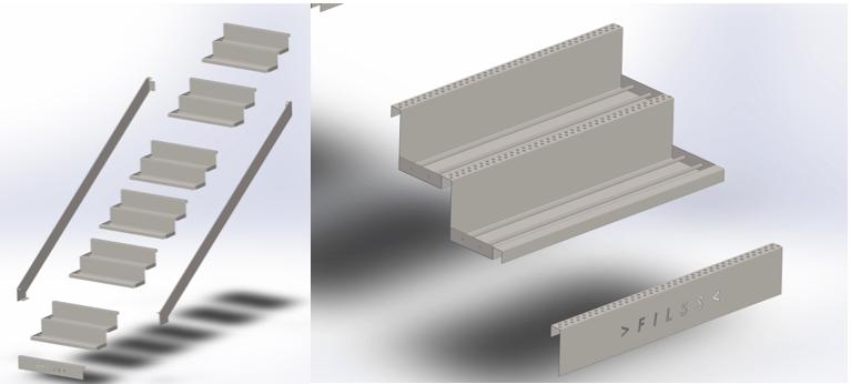 Schody modułowe FILLS fullmet z metalu